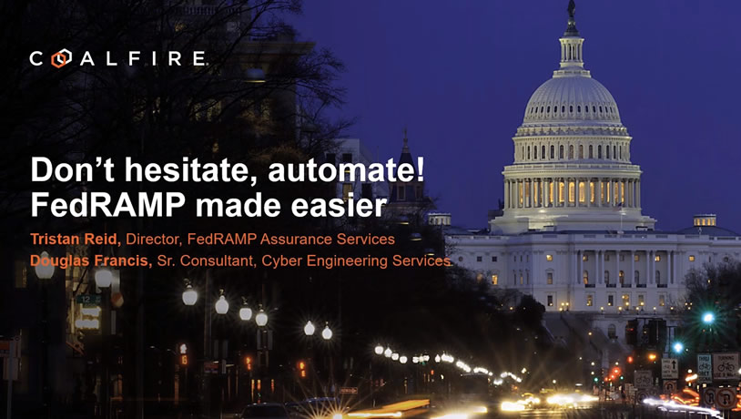 Don't hesitate...automate! FedRAMP made easier