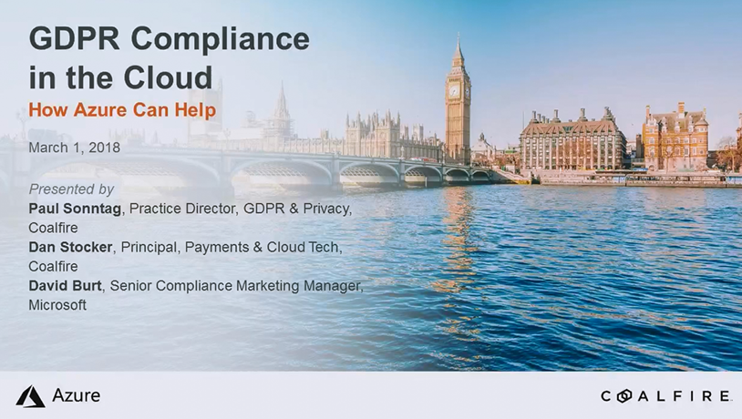 GDPR Compliance in the Cloud: How Azure Can Help