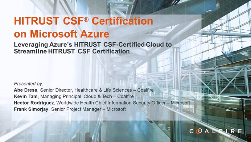 HITRUST CSF Certification on Microsoft Azure