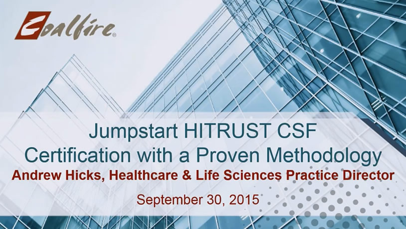 Jumpstart HITRUST CSF Certification with a Proven Methodology