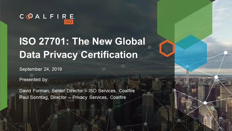 ISO 27701: The New Global Data Privacy Certification