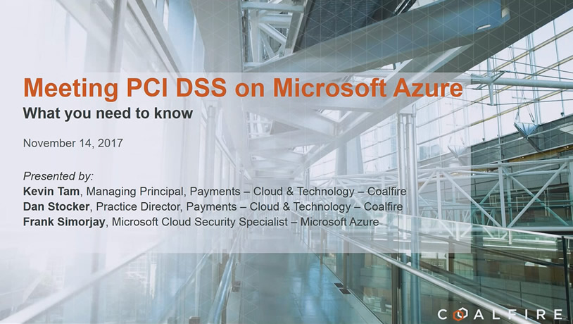 Meeting PCI DSS on Microsoft Azure