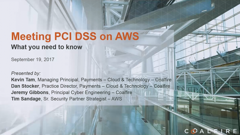 PCI on Amazon Web Services