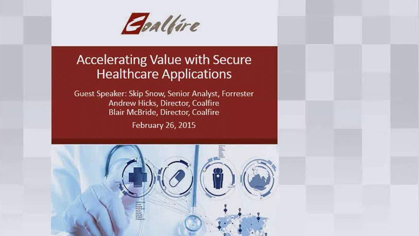 Accelerate Value with Secure Healthcare Applications