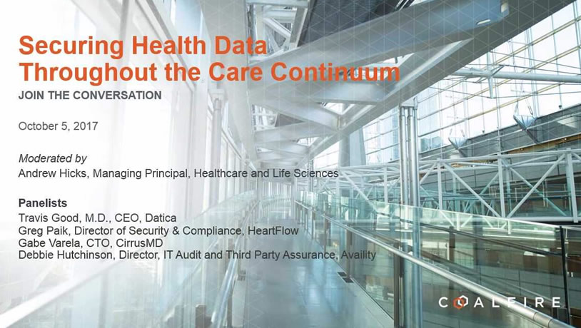 Securing Health Data Throughout the Care Continuum