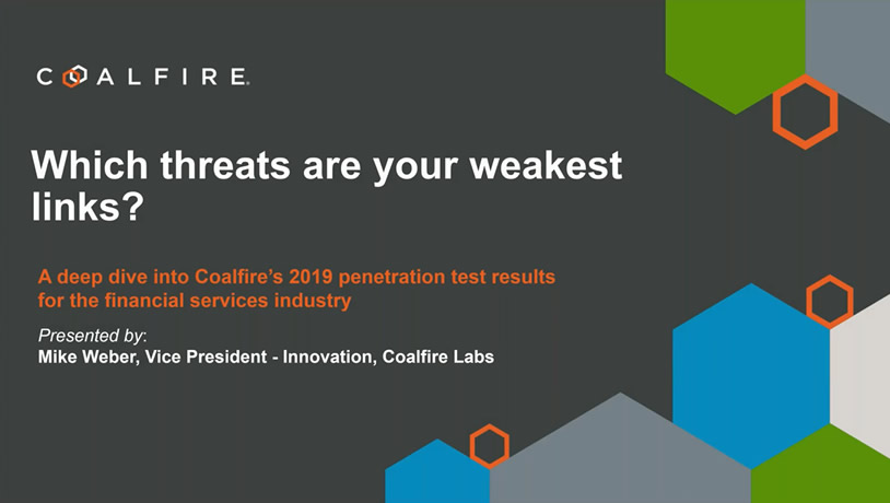 A deep dive into Coalfire's 2019 penetration results for financial services