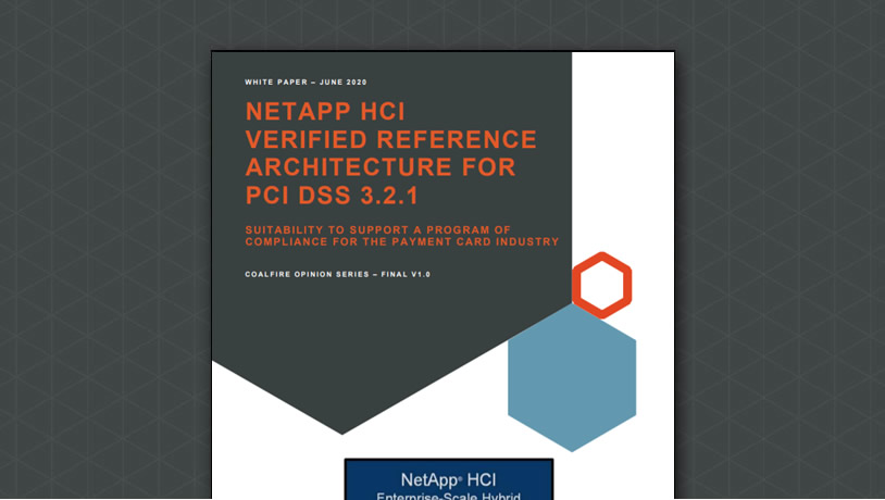 NetApp HCI Verified Architecture for PCI-DSS