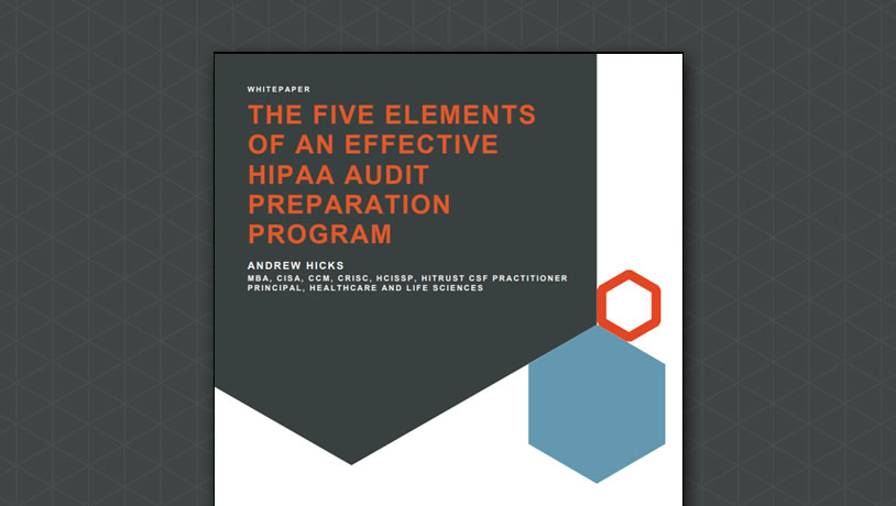 The 5 Elements of an Effective HIPAA Audit Preparation Program