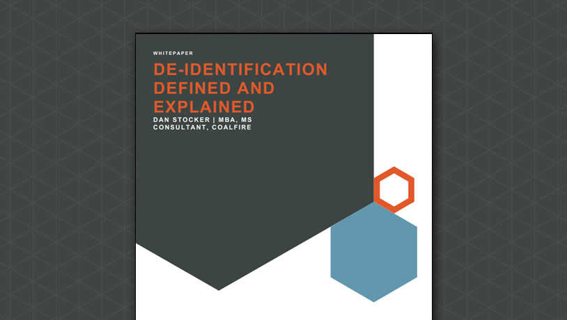 De-identification Defined and Explained
