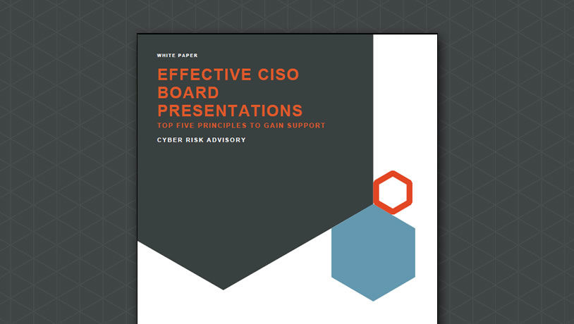 Effective CISO board presentations