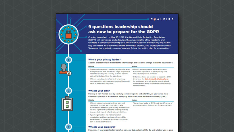 9 questions leadership should ask now to prepare for the GDPR