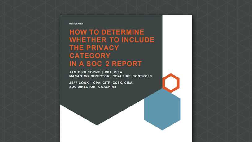How to Determine Whether to Include the Privacy Category in a SOC 2 Report