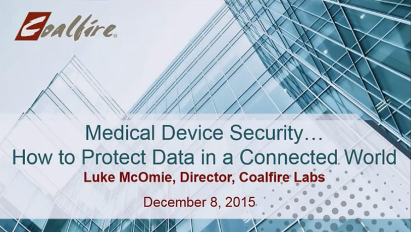 Medical Device Security – How to Protect Data in a Connected World