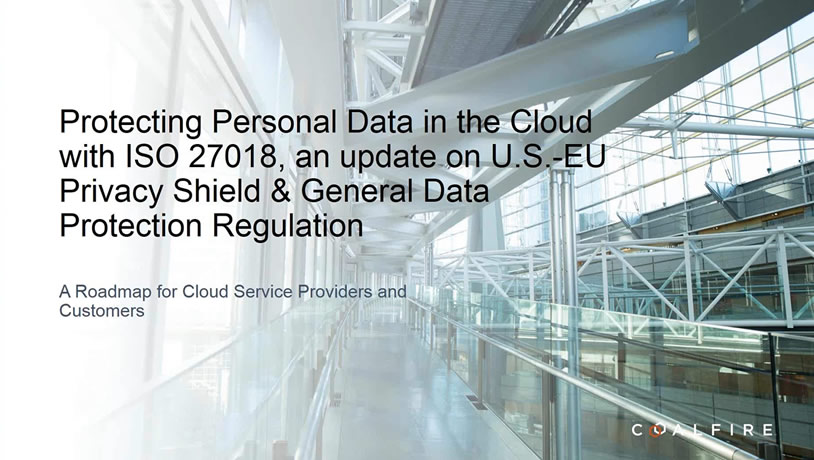 Protecting Personal data in the cloud with ISO 27018
